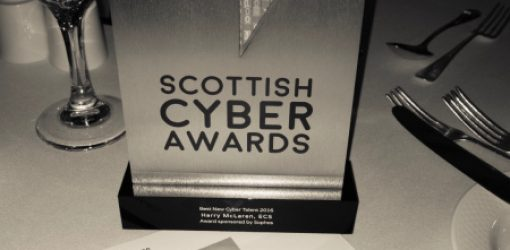 Awarded 'Best New Cyber Talent in Scotland' at the first ever 'Scottish Cyber Awards'
